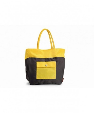 Electra Laguna Tote Charcoal Yellow