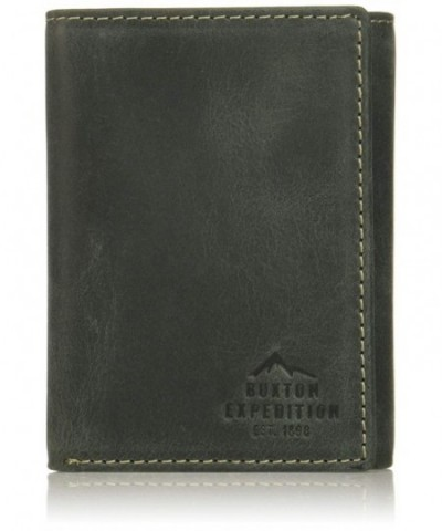 Buxton Expedition Blocking Leather Three fold