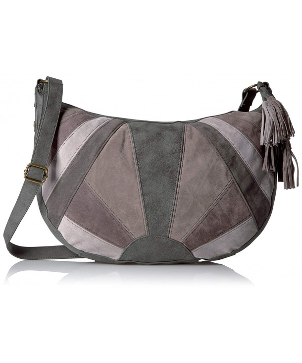 T Shirt Jeans Patchwork Hobo Grey