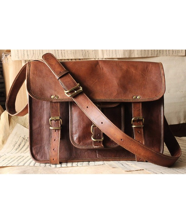 Handmade Leather Messenger Briefcase Satchel