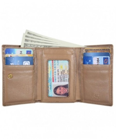 Banuce Genuine Leather Trifold Apricot