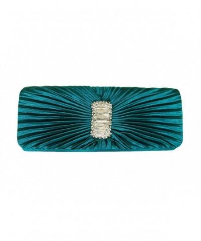Turquoise Rhinestone Rectangle Evening Shoulder
