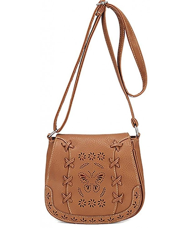 Womens Sanddle Crossbody Shoulder Hollow