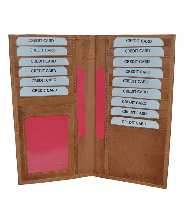 LeatherBoss 00666t Checkbook Holder Wallet