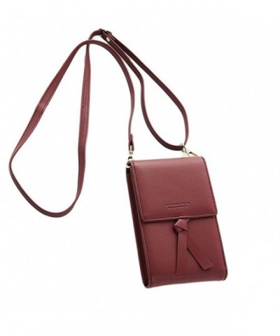 Crossbody Shoulder Leather Cellphone Multi pocket