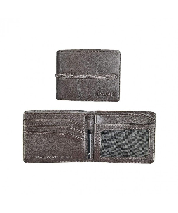 Nixon Coastal Bi Fold Wallet Walnut