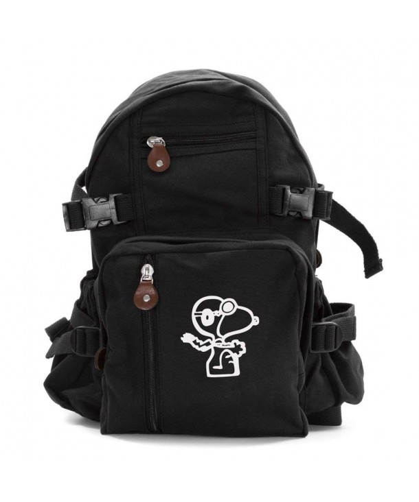 Snoopy Teardrop Backpack Leather Accents