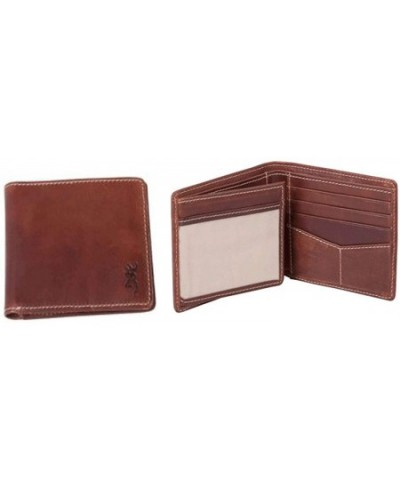 Browning Bi Fold Cognac Leather Wallet