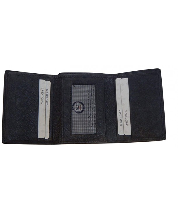 US Navy Trifold Wallet Black