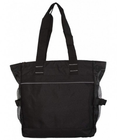 Poly Zippered Shoulder Tote Bag