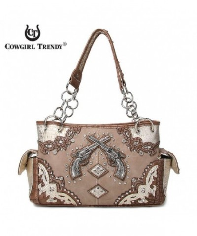 Western Handbag Concealed Satchel Shoulder