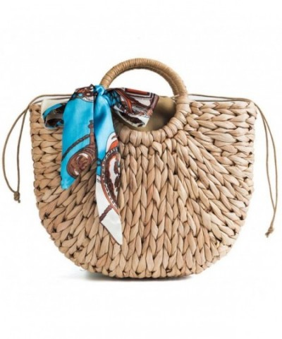 Natural Handle Handbags Hyacinth Handmade