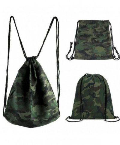 CHIC DIARY Drawstring Backpack Camouflage