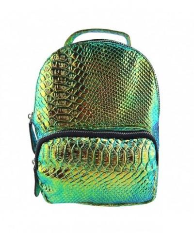 Flada Hologram Backpack Snakeskin Goldgreen