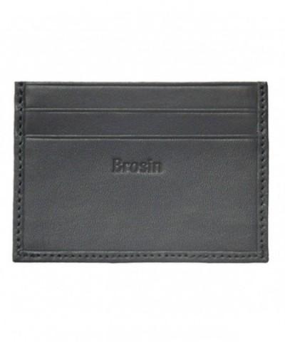 Brosin Genuine Leather Mens Wallet
