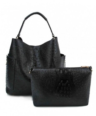 Miel Ostrich Embossed Pull out Crossbody
