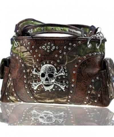 Camouflage Western Rhinestone Fashion Handbag