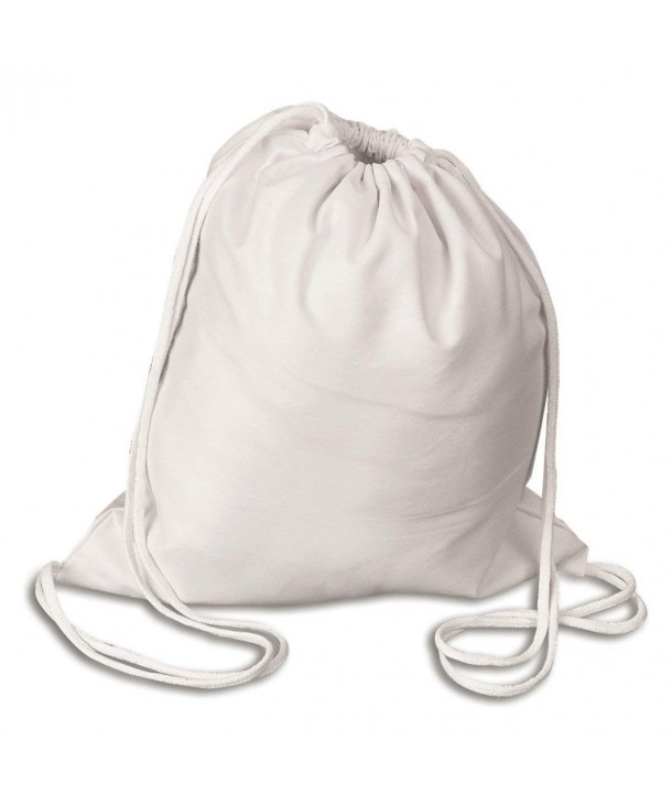 shop4bag Cotton Canvas Backpack Drawstring