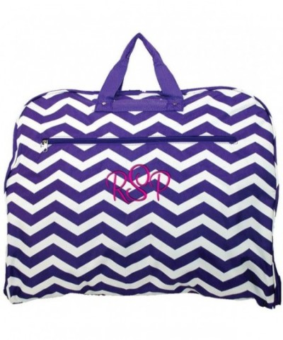 Personalized Purple Chevron Hanging Garment