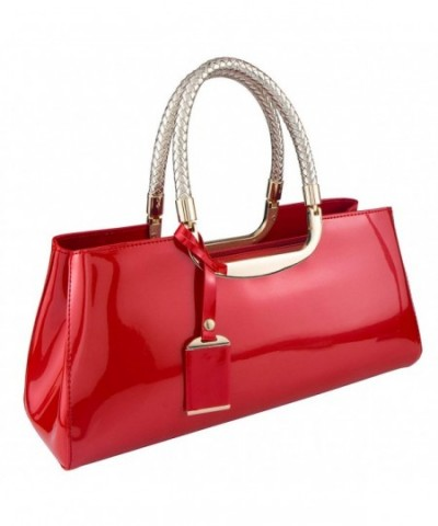 Bagood Womens Glossy Leather Evening