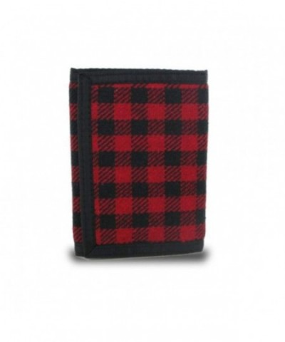 Generic Plaid Fabric Trifold Wallet x