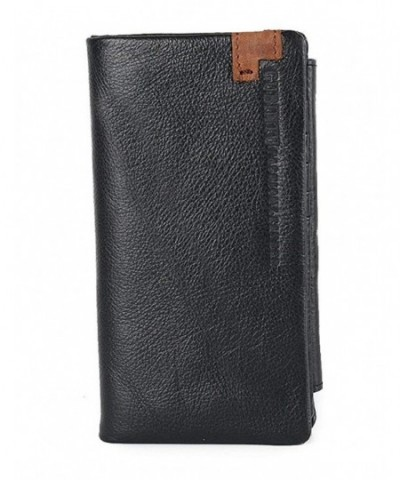 ETIAL Genuine Leather Capacity Trifold