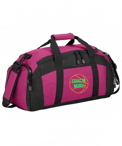 Personalized Basketball Sports Duffel Tropical