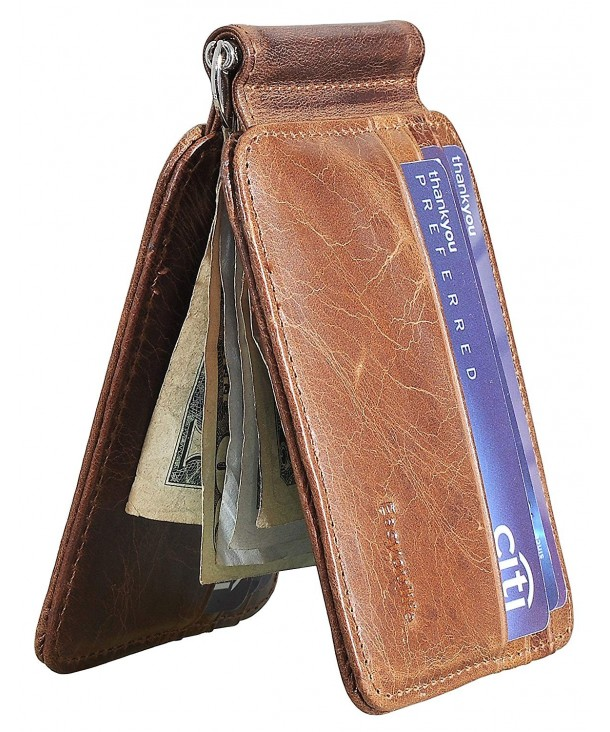 Easyoulife Bifold Wallet Genuine Leather