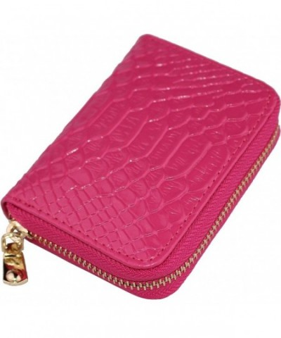 Wallets Blocking Ladies Glossy Rose Red