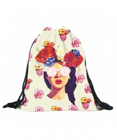 Creazy Printing Backpack Softback drawstring