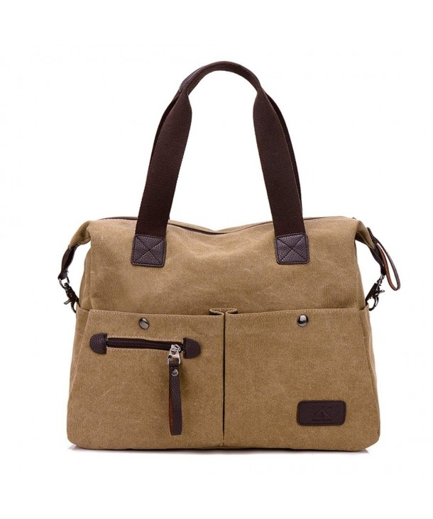 Qyoubi Womens Canvas Satchel Shoulder