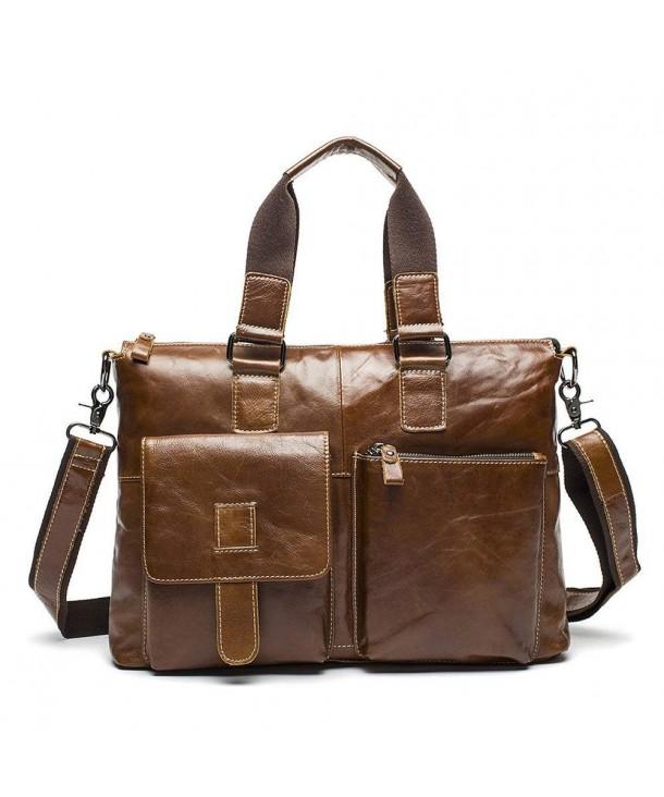 Stepack Genuine Messenger Briefcase Shoulder
