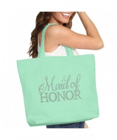 Flirty Rhinestone Maid Honor Tote
