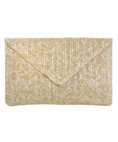 JNB Womens Envelope Clutch Natural