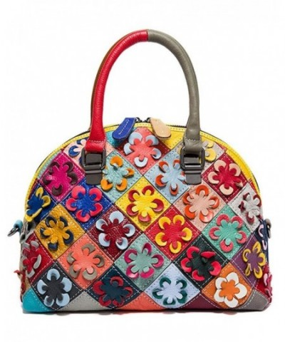 Leather Shoulder Satchel Messenger multicolour