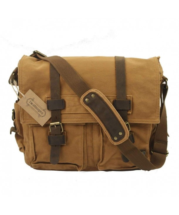 Shoulder Vintage Military Leather Messenger