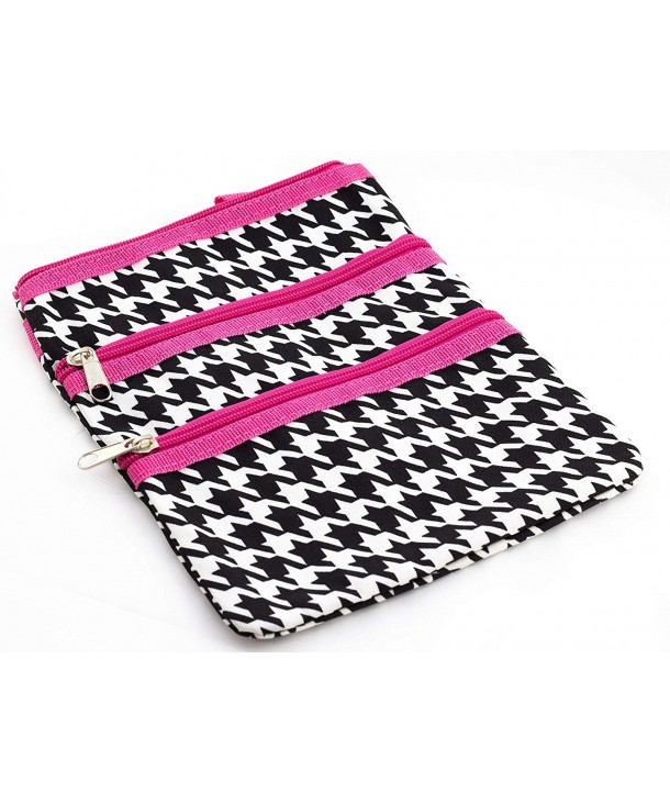 Pink Houndstooth Small Hipster Cross Body