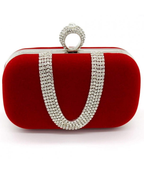 Kingluck Rhinestones Aluminiumsheet Handbags Available