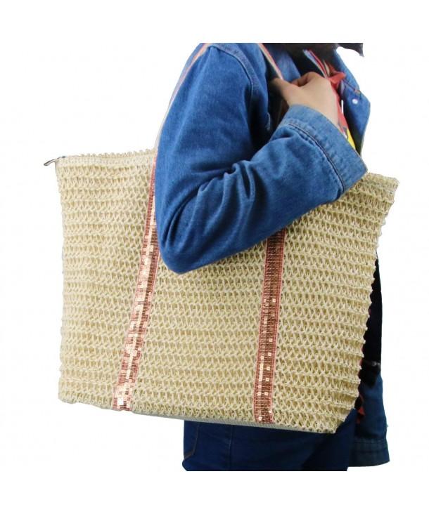 Handbags Shoulder Closure Handbag Stripes