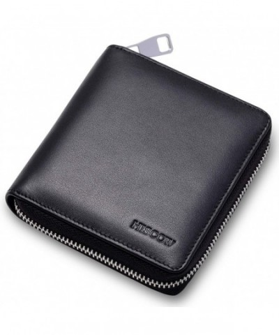 HISCOW Metal Zipper Short Wallet