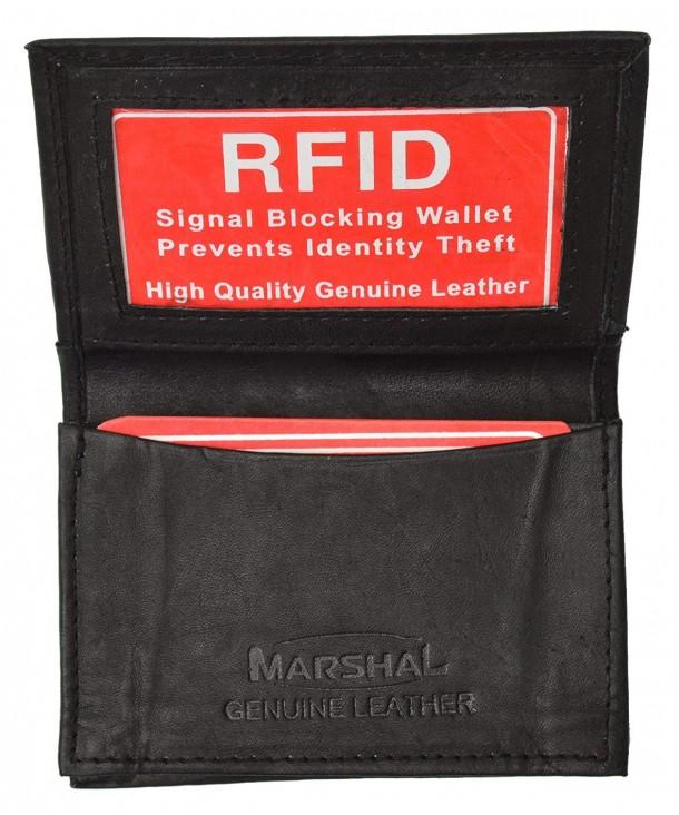 Leather Bi fold Credit Holder Black
