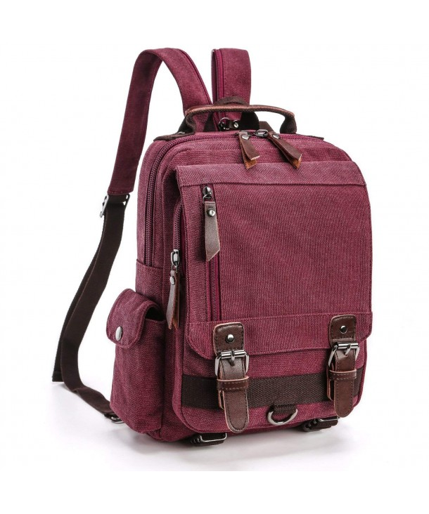 Backpack Purse F color Canvas Sling