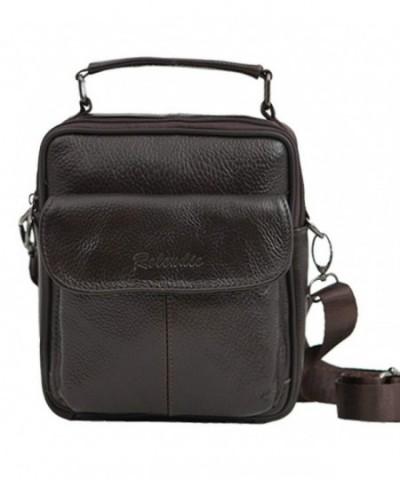 Leather Shoulder Messenger Travel Working