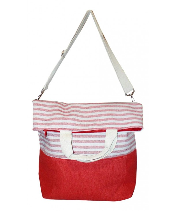 Striped Carry Fashion Beach Tote