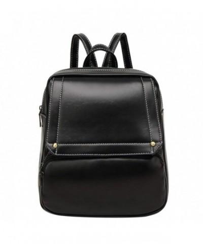 LIZHIGU Leather Backpack Satchel Shoulder