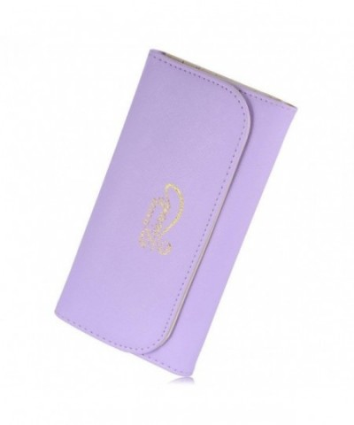 Womens Leather Wallet Handbag Purple