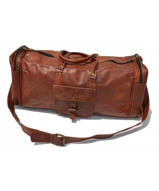 Genuine Leather Vintage Weekend Luggage