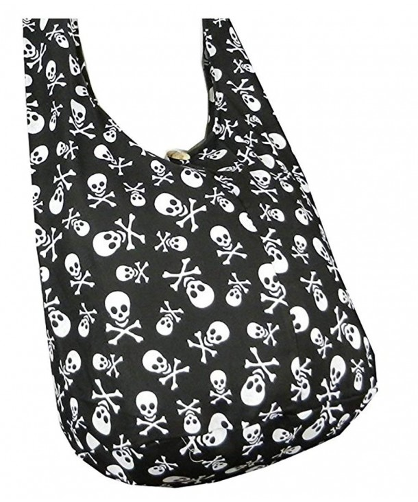 Skull Hippie Cotton Crossbody Messenger