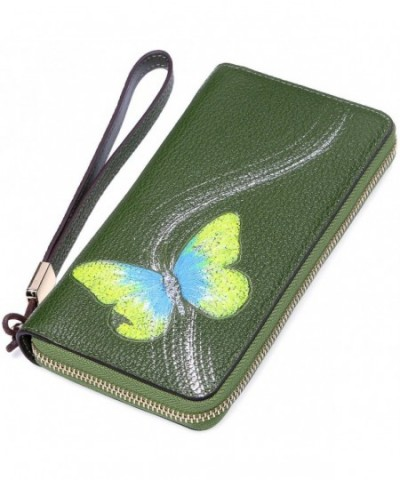 PIJUSHI Designer Genuine Leather Wristlet