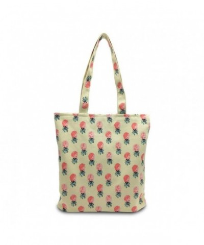 Mziart Pineapple Shoulder Foldaway Shopping